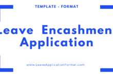 Photo of Annual Leave Encashment Application Format, Sample, Template Word File Download