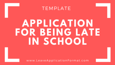Photo of Application for Coming Late in School – Application for Being Late at School Template – Arriving Late at School Application Letter Sample
