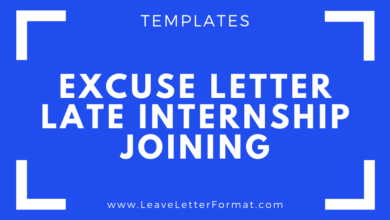 Photo of Application for being Late on Joining an Internship Program: internship Application Late Joining Excuse Letter Format, Templates, Samples and Examples: