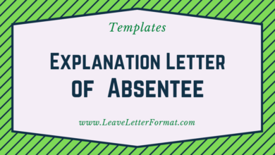 Photo of Explanation Letter of Absent Without Notice Format: Explanation of being Absent without Prior Notice by an Explanation Letter