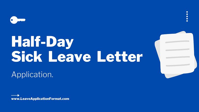 Sick Leave Letter Samples from leaveapplicationformat.com