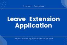 Photo of Leave Extension Application Format: Leave Extension Letter Sample, Template, Format, and Examples