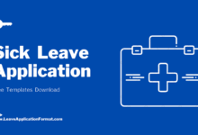 Photo of Sick Leave Application Format: Application for Sick Leave Samples, Sick Leave Examples, Sick Leave Templates