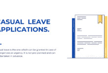Photo of Casual Leave Application to Principal, Headmaster and Teacher, Samples, Examples and Templates